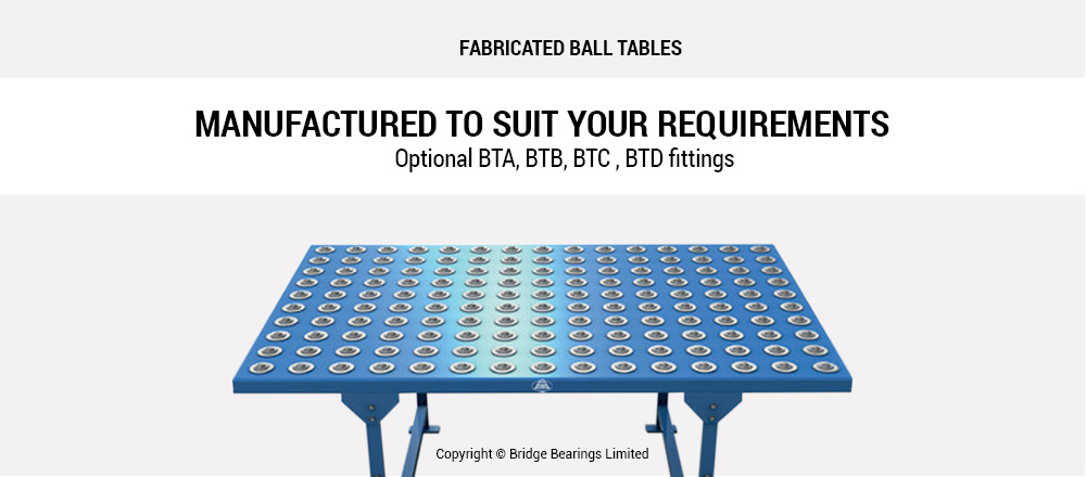 Fabricated Ball Tables from Conveyor Units